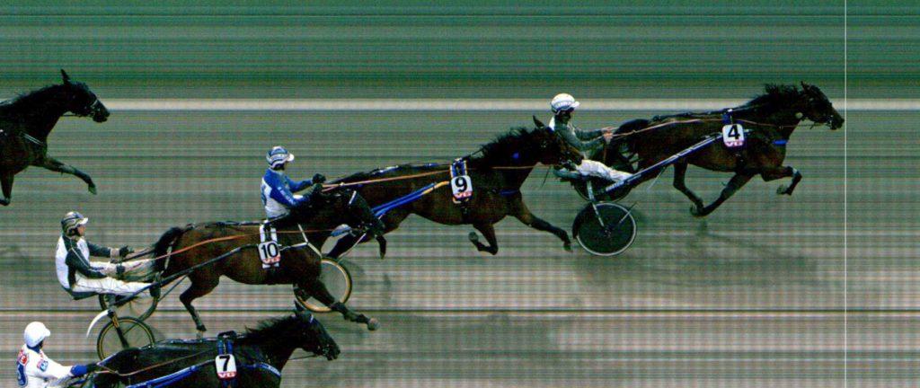 MÅLFOTO: 4 L.H. Starline / Eirik Høitomt vinner foran 9 Lady Lara / Vidar Hop og 10 Riva Renn / Stian Eilefsen.